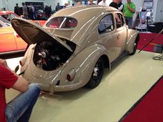 supercharged early split window beetle at Essen classica 2015
