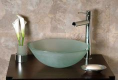 Frosted Glass Basin GS-104F from Cantrio Koncepts