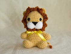Roaar! Here comes the fierce little lion that will melt anybodys heart with its cuteness. This is a very fun plush to crochet, this miniature lion is about 5 inch tall and can fit in the palm of your hand. The pattern is written in English, US format, and is published as a PDF file. The skill level is easy, you only need knowledge of basic stitches to crochet this project. It includes step by steps photos to help you along the way. This project requires safety eyes, but you can choose to…