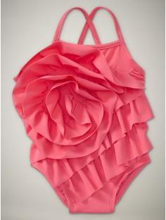 oh my sweetness! ruffle swimsuit for baby.