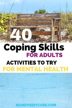 40 Stress-Busting Coping Skills for Adults Anxiety or Depression.Try these COPING SKILLS are for adults that want activities to try for mental health. GREAT tips to add self care when you feel stress in life Group Activities For Adults, Group Therapy Activities, Coping Skills Activities, Anxiety Activities, Mental Health Activities, Anxiety Coping Skills, Occupational Therapy Activities, Mental Health Therapy, Wellness Activities