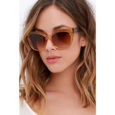 255cc49e6ce Quay Modern Love Amber and Brown Sunglasses ( 45) ❤ liked on Polyvore  featuring accessories