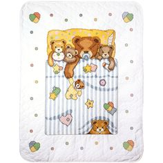 """Under The Covers Baby Quilt Stamped Cross Stitch Kit-34""""X43"""""""