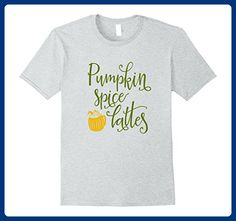 Mens Pumpkin Spice Lattes Coffee Shirt Funny Autumn Mom Bestie Small Heather Grey - Relatives and family shirts (*Amazon Partner-Link)