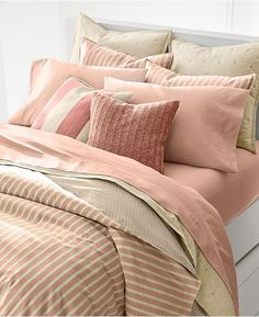 Shop the Home Graydon Striped Comforter at the world of Ralph Lauren. Browse our designer Home duvets & comforters today. Coral Bedding Sets, Mauve Bedding, Colorful Bedding, Striped Bedding, Red Bedding, Luxury Bedding, Light Pink Bedding, Comforter Sets, Linen Bedding