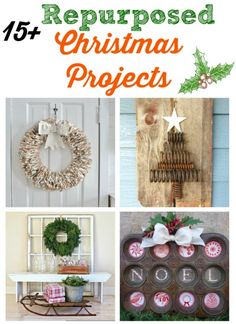 Turn salvaged junk into unique repurposed Christmas Projects - KnickofTime.net