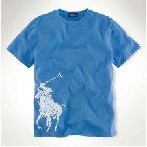 """maglietta big pony in blu ralph lauren uomo.Pure blu casuale maglietta allentata. I lavoratori devono. Prezzo speciale. come contatto""""Annapolo888@gmail.com"""