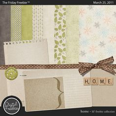 Home - Digital Scrapbooking Freebie