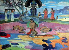 Paul Gauguin - Post Impressionism - Tahiti - Le jour de Dieu - 1894