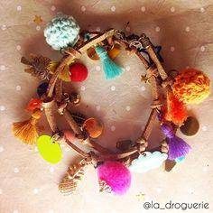 ☀️+++= #ladroguerie #lamarchandedecouleurs #lyon #diy #bracelet #bijoux #ananas