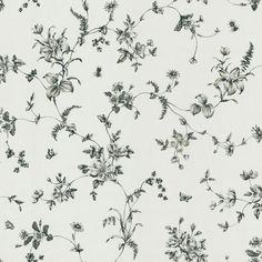 "Found it at Wayfair - Ink Lily Vine 33' x 20.5"" Floral Embossed Wallpaper"