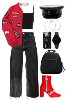 """""""Atarau"""" by mikaylaperrine ❤ liked on Polyvore featuring RE/DONE, GCDS, Manokhi, Melissa Odabash and CLUSE"""