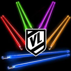 FIRESTIX Light Up glow Acrylic Lighted Drum Sticks - BATTERIES INCLUDED - New