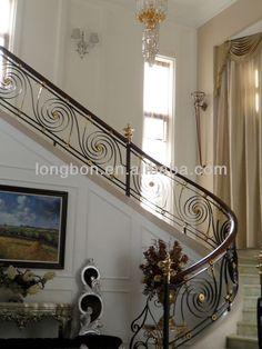 2014 üst- satış modern iç ferforje merdiven korkulukları-resim-Korkuluklar ve Korkuluk-ürün Kimliği:715925815-turkish.alibaba.com