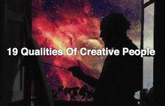 19 qualities of creative people