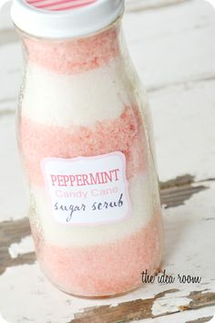DIY Christmas gift idea ~ Peppermint Candy Cane Sugar Scrub recipe