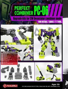 Upgrade your Transformers Combiner Wars Devastator with this Perfect Effect Upgrade Set! Pre-Orders Payment is due immediately for pre-orders and pre-orders cannot be cancelled, so please order wisely