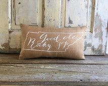 Burlap Pillow - Good 'Ole Rocky Top pillow | University of Tennessee pillow | Graduation Gift | Mother's Day gift