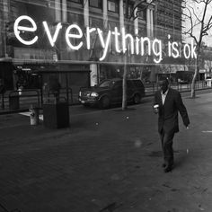 'Everything is ok' Neon - Photography by Thomas Hawk, via Flickr