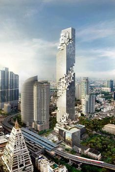 Amazing MahaNakhon, Thailand | MahaNakhon is a luxury mixed-use skyscraper currently under construction in the Silom/Sathon central business area of Bangkok, Thailand. And it's 314 metres (1,030 ft) and 77 floors. Featuring hotel, retail and residences, 194 units of The Ritz-Carlton Residences, Bangkok inside the building are priced between around US$1,000,000 to US$11,000,000, making it one of the most expensive condominiums in Bangkok.