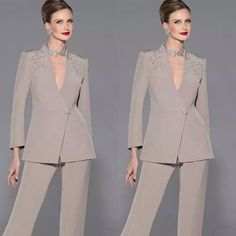 Stylish Lace Mother Of The Bride Pant Suits With Half Sleeves Bateau Neck Wedding Guest Dress Chiffon Plus Size Mothers Groom Dresse Mother Of The Groom Suits, Mother Of Groom Dresses, Mothers Dresses, Bride Dresses, Buy Dress, Elegant Dresses, Marie, Pant Suits, Joan Rivers