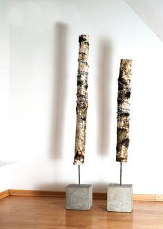 wood Dekobaum   Jung und Grau - Betonmöbel und Wohnaccessoires aus Beton