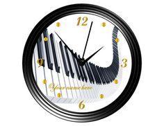 Reloj de pared de teclado de piano 4 por ourSHINEdesigns en Etsy
