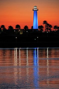 ✯ Lighthouse At Queensway Bay - Long Beach, CA What a contrast in colors..turned out very nice!