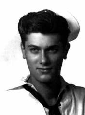 "Tony Curtis (né Bernard Schwartz) (1925-2010) Signalman 3rd Class, U.S. Navy Reserves 1942-45 WW II. He served on the submarine tender USS Proteus (AS-19). He was aboard when the Proteus entered Tokyo Bay where, through binoculars from the signal bridge, he witnessed the signing of the Japanese Document of Surrender aboard the USS Missouri. Of his many movies he is best remembered for playing the title role in ""Houdini"" (1953), and as Joe in ""Some Like It Hot"" (1959)."