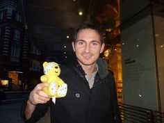 Frank Lampard, footballer for Chelsea FC, supports the Paul Strank Roofing Photothon with Pudsey! #cin #pudsey #pudseyphotothon #cfc #chelseafc