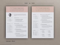 Resume Axel pages) by Estartshop on Ready for Print Resume template examples creative design and great covers, perfect in modern and stylish corporate business. Modern, simple, clean, minimal and feminine layout inspiration to grab some ideas. Resume Writing Examples, Resume Template Examples, Simple Resume Template, Creative Resume Templates, Cv Template, Cover Letter For Resume, Cover Letter Template, Letter Templates, Simple Resume Format
