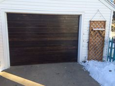 Reface your fiberglass garage door yourself for $80! Way cheaper and gives it some appeal!