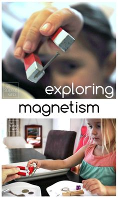 exploring magnetism - magnetic science experiment for kids