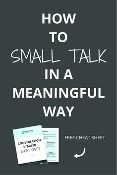 Networking and small talk doesn't have to be shallow. With a little bit of skill and practice, you can build relationships with complete strangers quickly and to have deeper, meaningful connections. Click through to learn how with the simple FROG system a