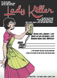ladykillercomicbook: Want to make it easy for your retailer to. Comic Books Art, Comic Art, Joelle, Dark Horse, New Series, Cringe, Comics, Memes, Sassy