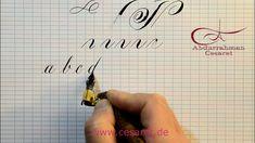 Copperplate  eğik el yazısı Türkçe - Abdurrahman Cesaret - Angleise Engl...