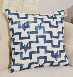 Zak and Fox Designer Pillow Tulu Indigo Blue by MotifPillows