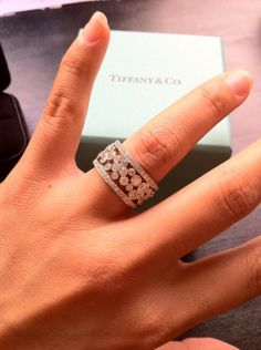 Tiffany ring http://oakgem.com/Products/Tiffany_(and)_Co_Cobblestone_Platinum_Diamond_Band_Ring_8569.aspx