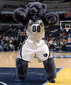 Memphis Grizzlies mascot, Grizz the Bear.