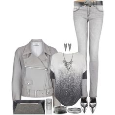 """Gray Outfit"" by angela-windsor on Polyvore"
