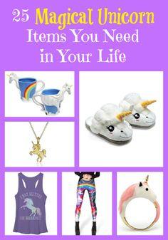 Magical Unicorn Clothing & Unicorn Decor Items