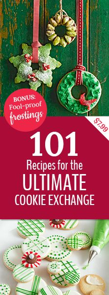 Plan the best cookie exchange ever! From easy no-bake cookies to perfect sugar cookies, we've got 101 cookie recipes you can use to impress your friends and family this holiday season.