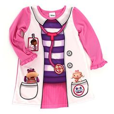 188335c1dd Doc McStuffins Toddler Pink Nightgown Pajamas (2T) American Marketing  Enterprises INC http