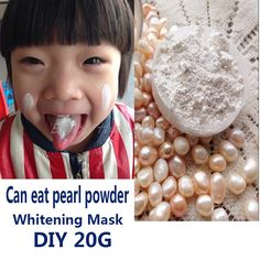 20g Pure Pearl Powder Mask DIY Whitening Anti Aging Remove Acne Spots Speckle Blackhead Shrink Pores Facial Mask Free Shipping