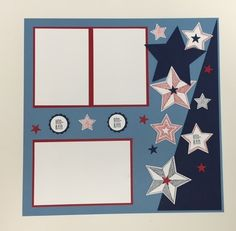 Be the Star Stamp Set, Star Collection Framelits, July Scrapbook, 4th of July Scrapbook, Scrapbook Pages, stampwithpeggy