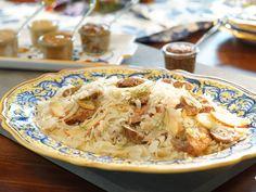 Turkey Sausage with Fennel Sauerkraut recipe from Valerie Bertinelli via Food Network