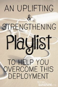 Uplifting & Strengthening Playlist to Overcome Deployment Are you ready to overcome this deployment? Music always helps. Try this uplifting and strengthening playlist of more than 60 songs! Deployment Quotes, Military Deployment, Military Spouse, Deployment Gifts, Military Families, Deployment Letters, Deployment Countdown, Navy Military, Military Ball