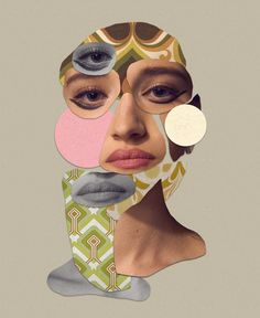 It's been many years since I made my first collage and it's taken me until now t. Face Collage, War Paint, Vienna, Retro, Makeup, Artwork, Artist, Pattern, Photography