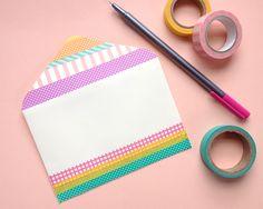 Omiyage Blogs: Send Pretty Mail #30 - Washi Tape Dots & Stripes