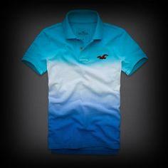 Hollister Seal Beach Polo ポロシャツ 左胸のカモメマークがワンポイント。鮮やかなグラデーションが個性的で目立つアイテム!